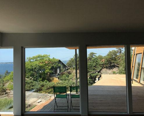 Hytte mørvika stue utsikt